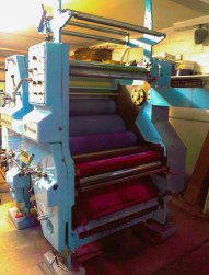 The Times-Independent recently started printing the front and back covers in color. Pictured here is the color printing press that allows that to happen.