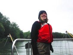 Many Ondrick is enjoying the boat ride. PC: Jillian Clemente